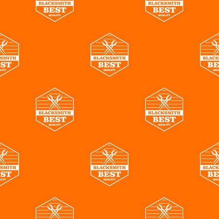 Quality blacksmith pattern vector orange