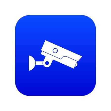 Security camera icon digital blue