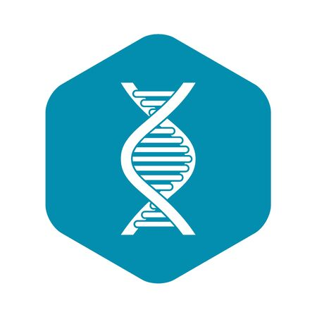 DNA strand icon in simple style on a white background vector illustration Ilustração