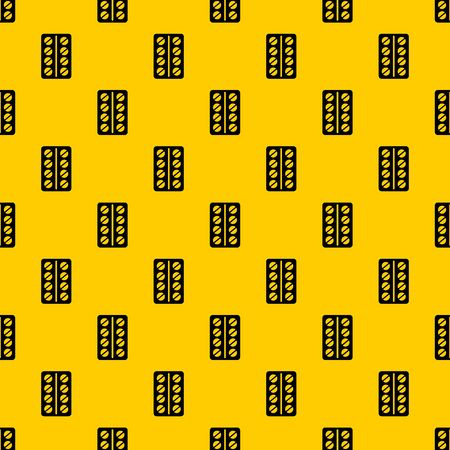 Round pills in a blister pack pattern seamless vector repeat geometric yellow for any design