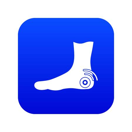 Foot heel icon digital blue