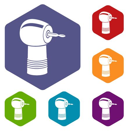 Dental drill icon. Simple illustration of dental drill vector icon for web