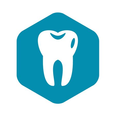 Tooth icon in simple style