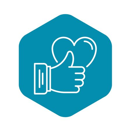 Like thumb up icon. Outline like thumb up vector icon for web design isolated on white background Illustration