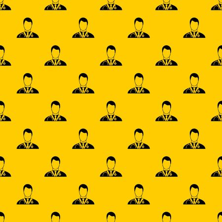 Doctor pattern seamless vector repeat geometric yellow for any design