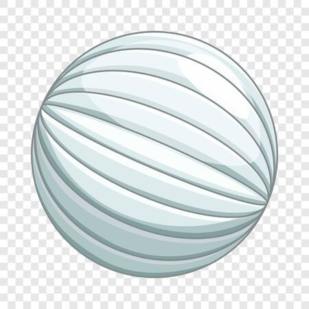 White planet icon, cartoon style