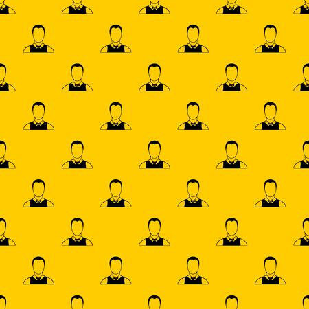Waiter pattern seamless vector repeat geometric yellow for any design