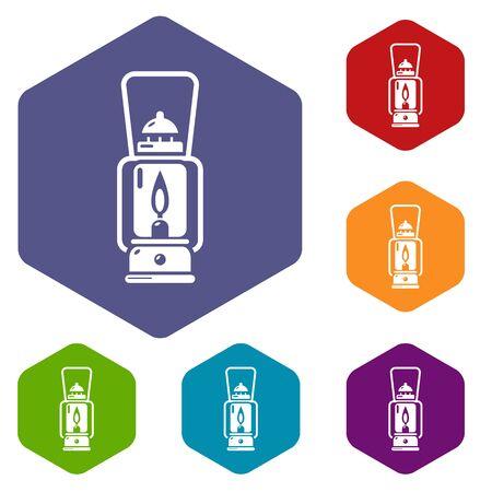 Gas lamp icon, simple black style Ilustração