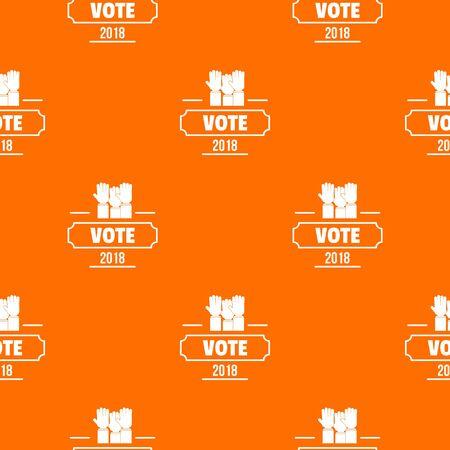 Vote registration pattern vector orange Banque d'images - 124939017