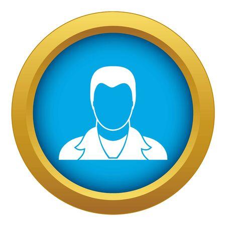 User icon blue vector isolated on white background for any design Ilustração