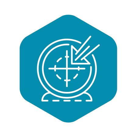 Vlog target icon, outline style