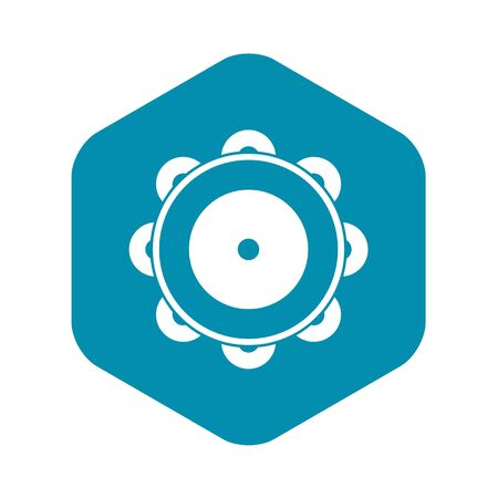 Tambourine icon in simple style Ilustração