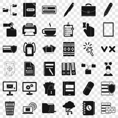 Folder icons set, simle style