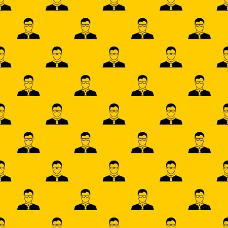 Teacher pattern seamless vector repeat geometric yellow for any design