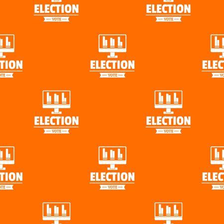 Vote stats pattern vector orange Banque d'images - 124939101