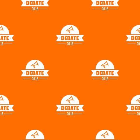 Debate pattern vector orange Banque d'images - 124939109