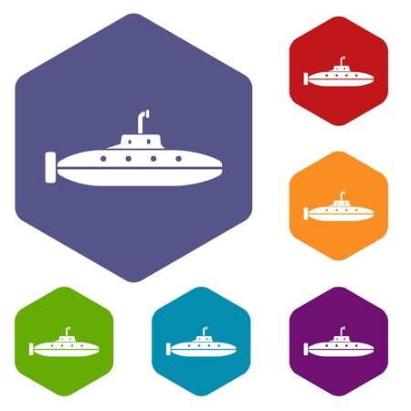 Research submarine icon, simple style.