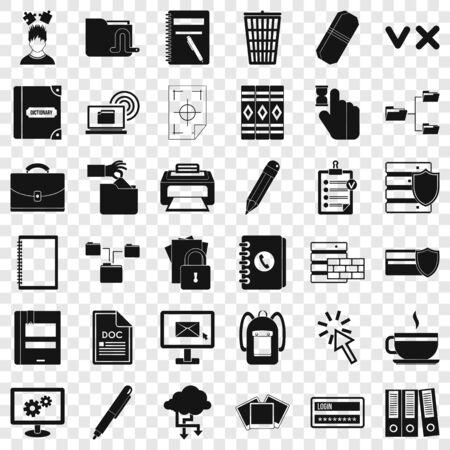 Communication icons set, simle style