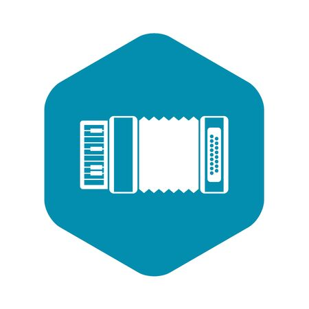 Accordion icon in simple style