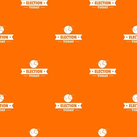 Stats today pattern vector orange Banque d'images - 124939151