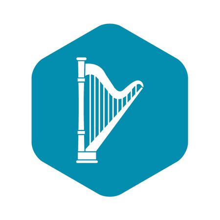 Harp icon in simple style on a white background vector illustration