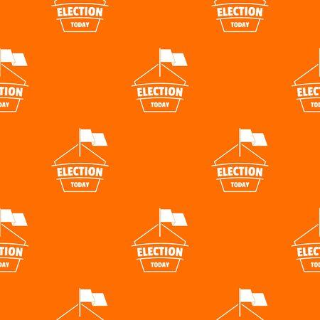 Election today pattern vector orange Banque d'images - 124939243
