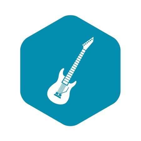 Electric guitar icon in simple style on a white background vector illustration Illustration