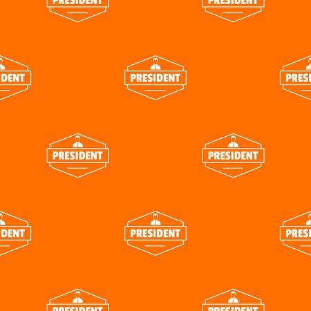 President pattern vector orange Banque d'images - 124939250