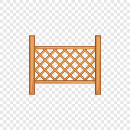 Grid of wooden fence icon. Cartoon illustration of grid of wooden fence vector icon for web