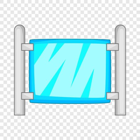 Modern fence icon. Cartoon illustration of modern fence vector icon for web
