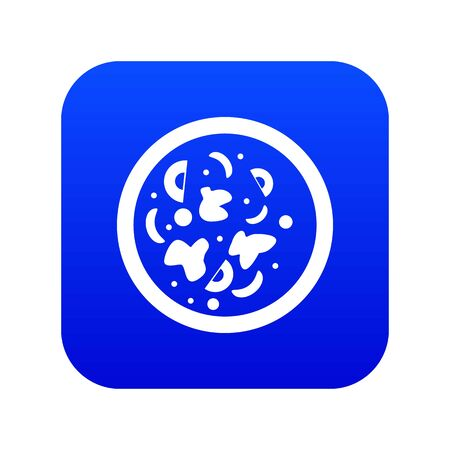 Asian hot dish icon digital blue