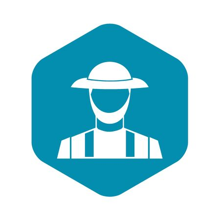 Farmer icon in simple style on a white background vector illustration