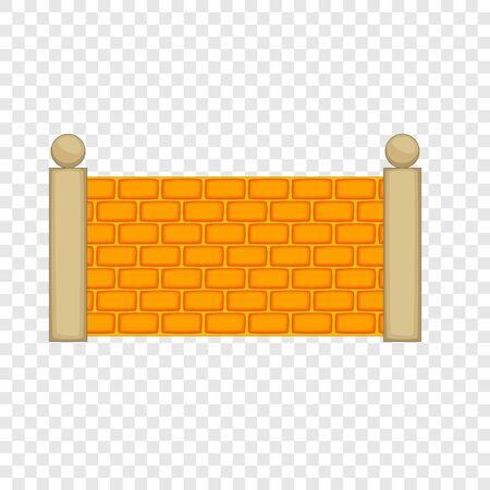 Betonnen hek icoon. Cartoon illustratie van betonnen hek vector pictogram voor web Vector Illustratie