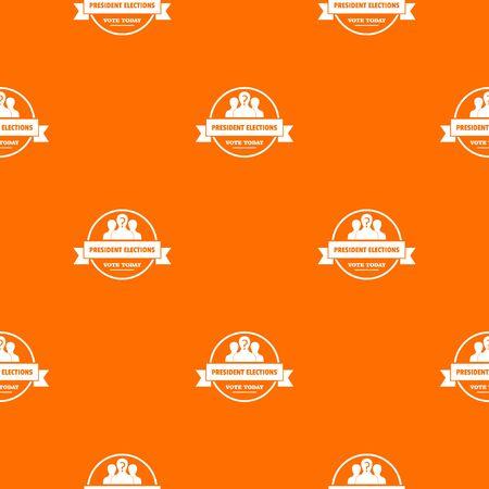 President election pattern vector orange Banque d'images - 124939316