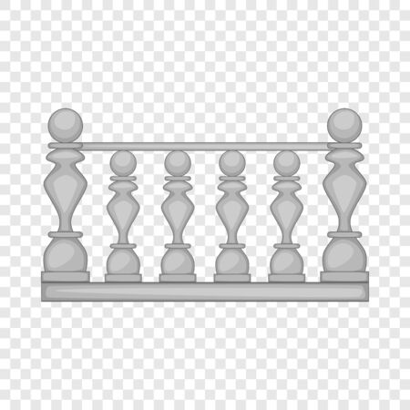 Classic stone balustrade icon. Cartoon illustration of classic stone balustrade vector icon for web