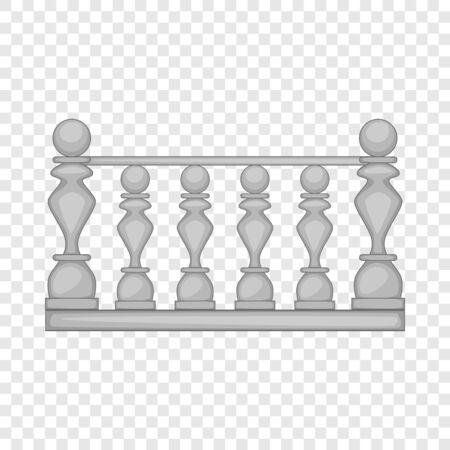 Klassiek stenen balustrade icoon. Cartoon illustratie van klassieke stenen balustrade vector pictogram voor web Vector Illustratie
