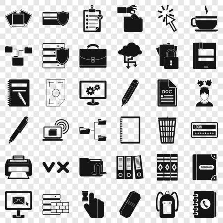 Calculator icons set, simle style Illustration