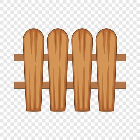 fence made of boards icon. Cartoon illustration of fence made of boards vector icon for web