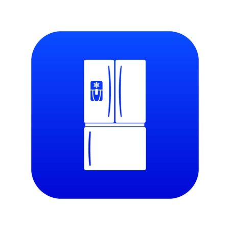 Fridge icon blue vector isolated on white background Иллюстрация