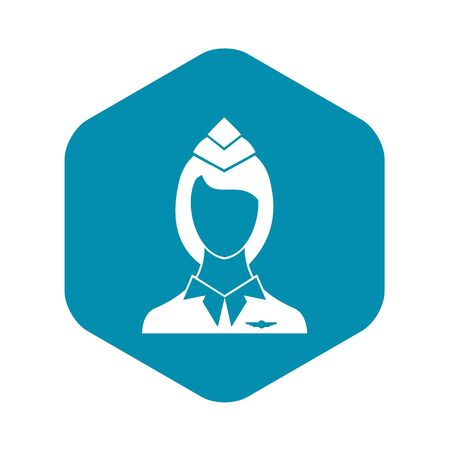 Stewardess icon in simple style on a white background vector illustration Stock Illustratie