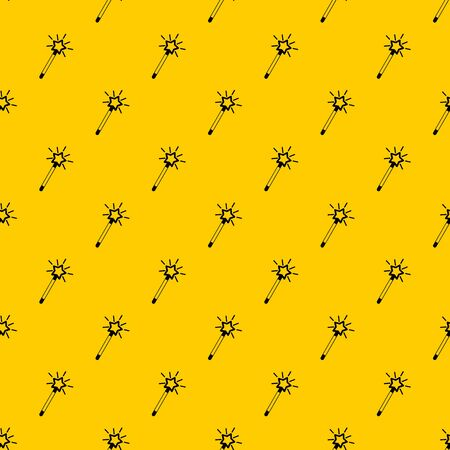 Magic wand pattern seamless vector repeat geometric yellow for any design
