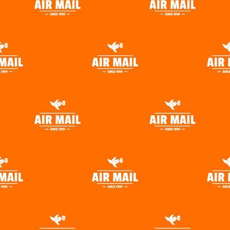 Express air mail pattern vector orange