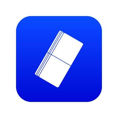 Eraser icon digital blue