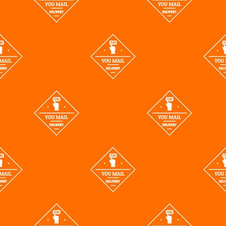 Delivery pattern vector orange