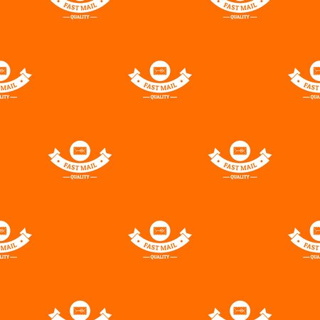 Delivery quality pattern vector orange
