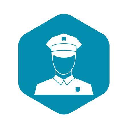 Pilot icon in simple style Ilustração