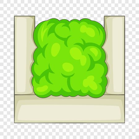 Icona di siepe di recinzione. Illustrazione del fumetto dell'icona di vettore della siepe di recinzione per il web