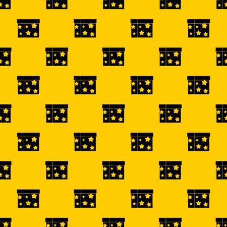 Box magician pattern seamless vector repeat geometric yellow for any design Vector Illustration