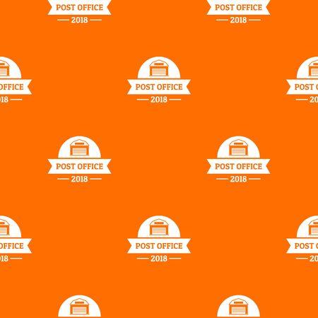 Office post pattern vector orange