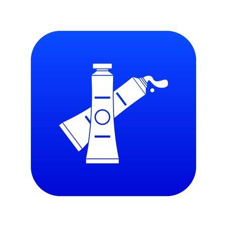 Oil paints icon digital blue